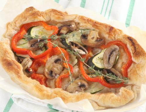מאפה ירקות ופטריות