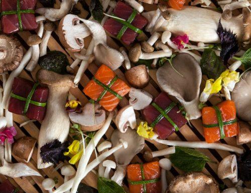 דגים ופטריות מאודים