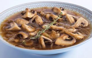 מרק בצל ופטריות מושלם