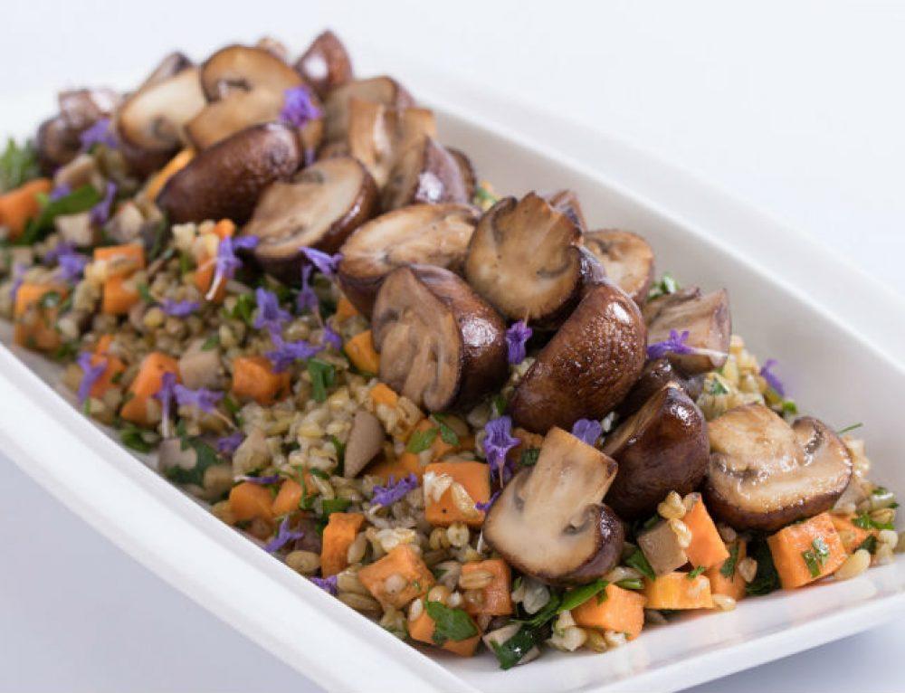 תבשיל של פריקי ירקות שורש ופטריות